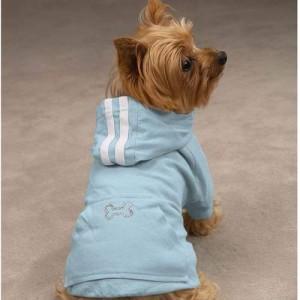 Blue Hooded Bling Sweater